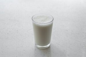 Milk in glass