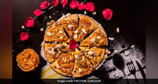 Jalebi and rabri pizza