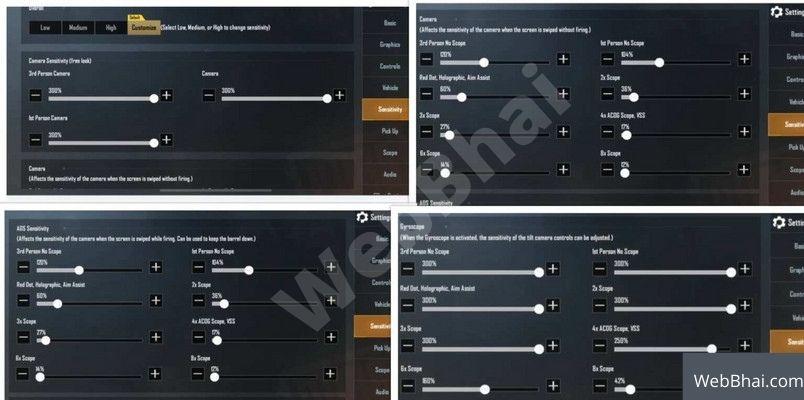 Payal Gaming Sensitivity